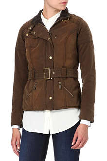 BARBOUR Eridge waxed biker jacket