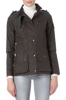 BARBOUR Laudale drawstring wax jacket