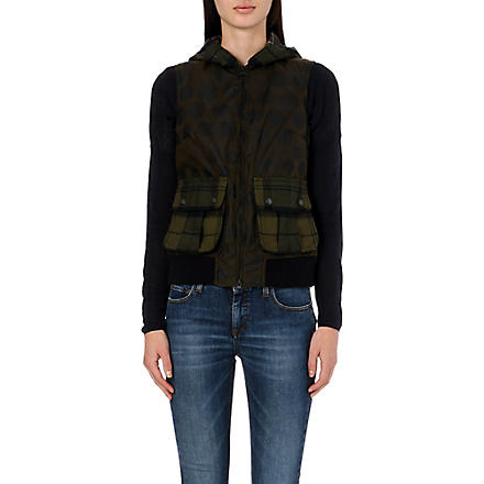 BARBOUR Clyde gilet (Olive snow spot/classic