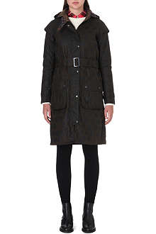 BARBOUR Polka-dot waxed-cotton trench coat