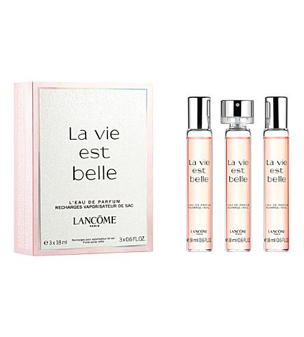 LANCOME La Vie est Belle eau de parfum refills 3 x 18ml