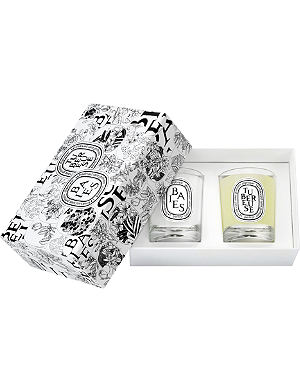 DIPTYQUE Baies and tubereuse candle set