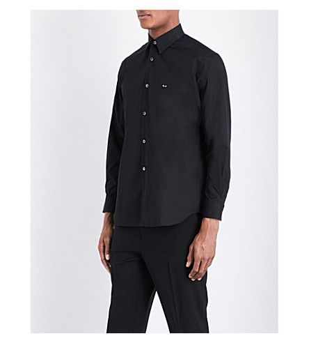COMME DES GARCONS PLAY Regular-fit cotton shirt (Black