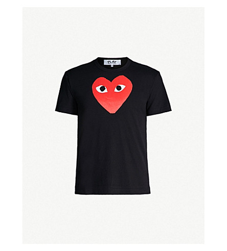 COMME DES GARCONS PLAY play heart cotton t-shirt (Black