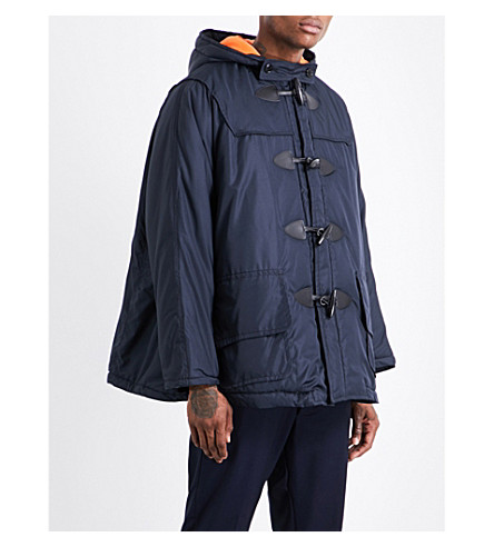 COMME DES GARCONS BOY Oversized quilted hooded shell puffer jacket (Navy