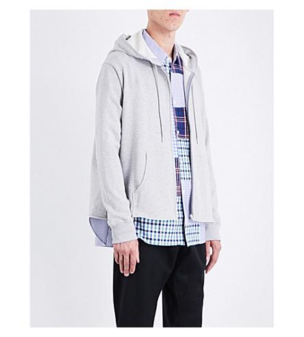 COMME DES GARCONS BOY Boys-print cotton-jersey hoody (Top+grey