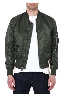 ALPHA MA-1 reversible camouflage-print bomber jacket