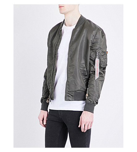 ALPHA INDUSTRIES MA-1 reversible bomber jacket (Rep+grey