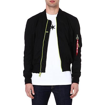 ALPHA MA-1 soft-shell bomber jacket (Black