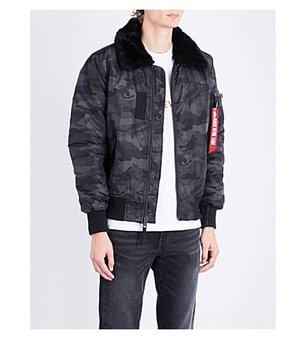 ALPHA INDUSTRIES Injector bomber jacket (Black