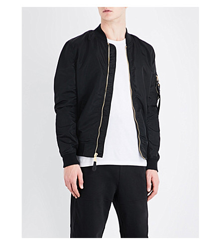 ALPHA INDUSTRIES MA-1 VF LW shell bomber jacket (Black+gold