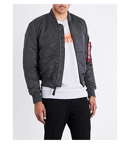 ALPHA INDUSTRIES Army shell bomber jacket (Grey+black