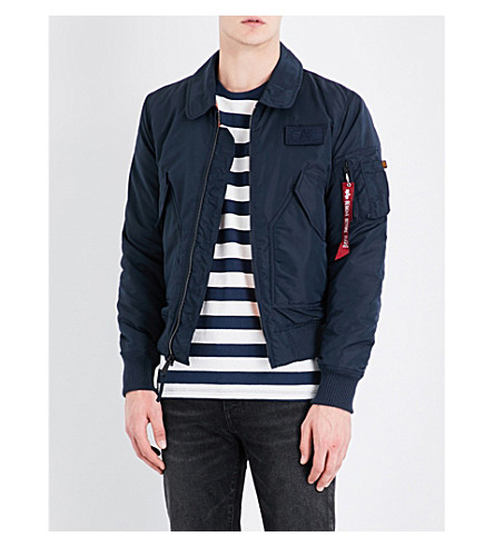 ALPHA INDUSTRIES CWU 45/P shell bomber jacket (Blue