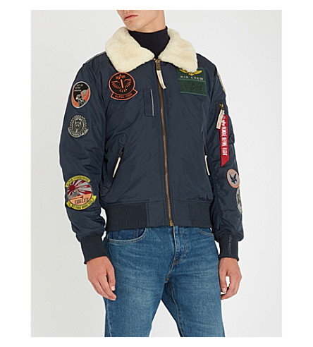 ALPHA INDUSTRIES Injector III shell bomber jacket (Repl.+blue