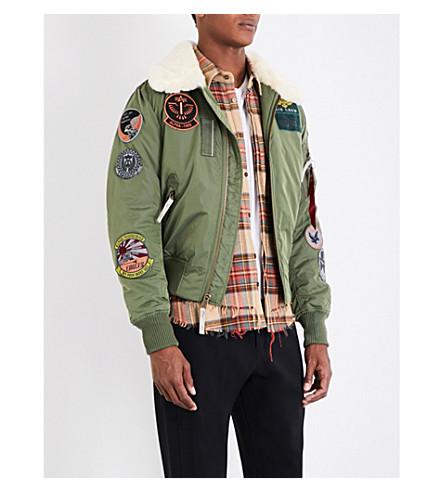 ALPHA INDUSTRIES Injector III shell bomber jacket (Sage+green