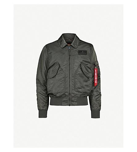ALPHA INDUSTRIES Alpah shell bomber jacket (Grey+black