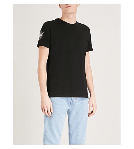 ALPHA INDUSTRIES Appliquéd cotton-jersey T-shirt (Black
