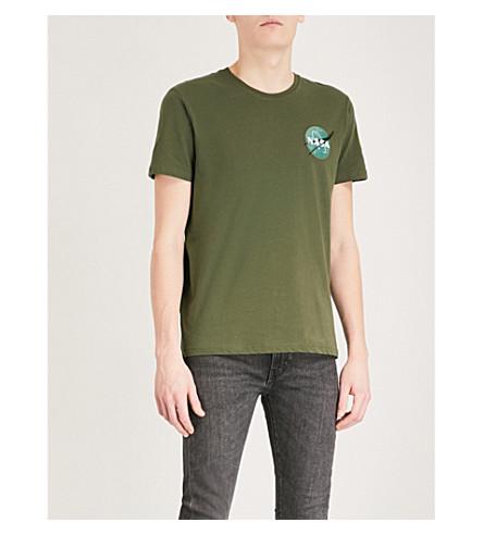 ALPHA INDUSTRIES Space Shuttle cotton-jersey T-shirt (Dk+green