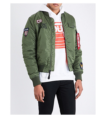 ALPHA INDUSTRIES Flying tigers padded bomber jacket (Sage+green
