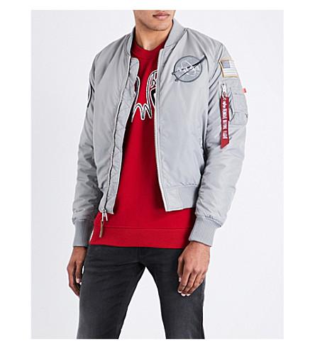 ALPHA INDUSTRIES NASA reversible padded bomber jacket (Silver