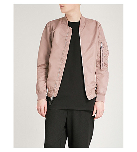 ALPHA INDUSTRIES MA-1 reversible shell bomber jacket (Mauve+choco+chip