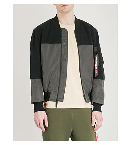 ALPHA INDUSTRIES MA-1 mesh and shell jacket (Grey+black