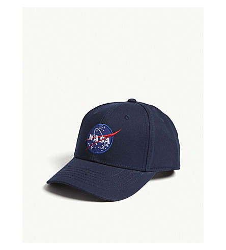 ALPHA INDUSTRIES Nasa cotton snapback cap (Rep+blue