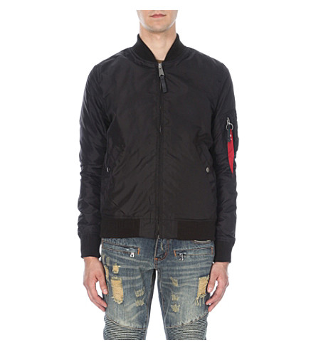 ALPHA INDUSTRIES MA-1 shell bomber jacket (Black+ls