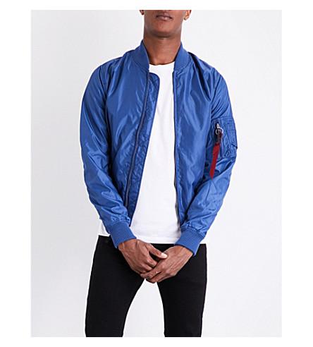 ALPHA INDUSTRIES MA-1 shell bomber jacket (Ocean+blue