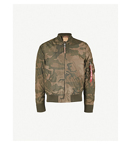 ALPHA INDUSTRIES MA-1 shell bomber jacket (Oliver+camo
