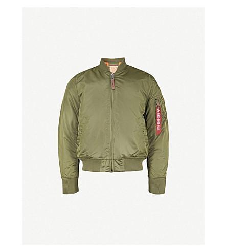 ALPHA INDUSTRIES MA-1 shell bomber jacket (Sage green