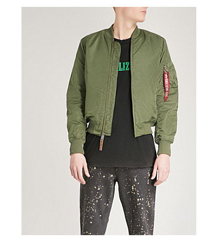 ALPHA INDUSTRIES MA-1 shell bomber jacket (Sage green