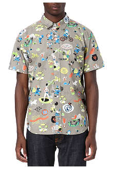 STUSSY Story Time slim-fit shirt