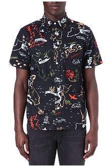STUSSY Map Print shirt