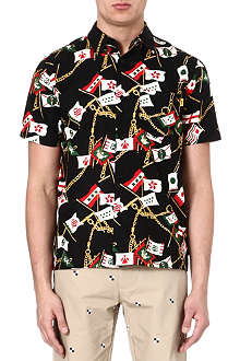 STUSSY Flags and chains print shirt