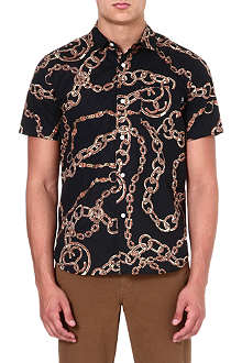 STUSSY Chain-print cotton shirt