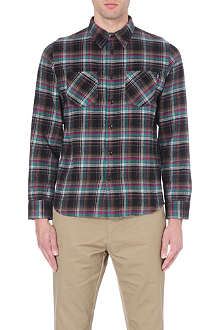 STUSSY Plaid pocket cotton shirt