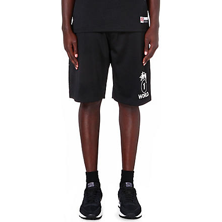 STUSSY One World mesh shorts (Black