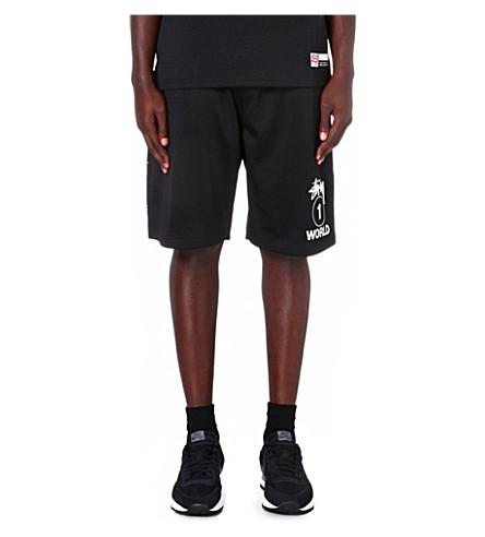 STUSSY One World mesh shorts (Black
