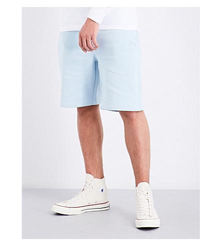 STUSSY Cotton-jersey shorts (Sky+blue