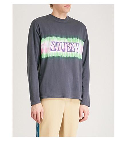 STUSSY Tie-dye cotton-jersey T-shirt (Black