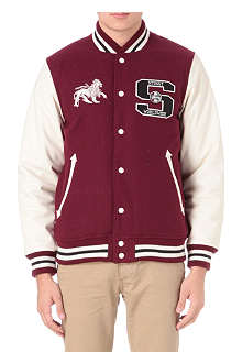 STUSSY Worldwide letterman varsity jacket
