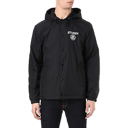STUSSY Hooded Coaches jacket (Black