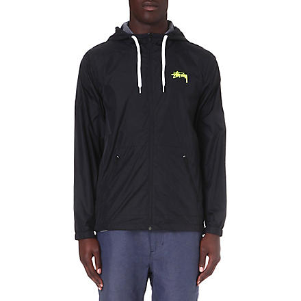 STUSSY Nylon hooded jacket (Black