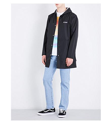 STUSSY Coach logo-detail shell jacket (Black