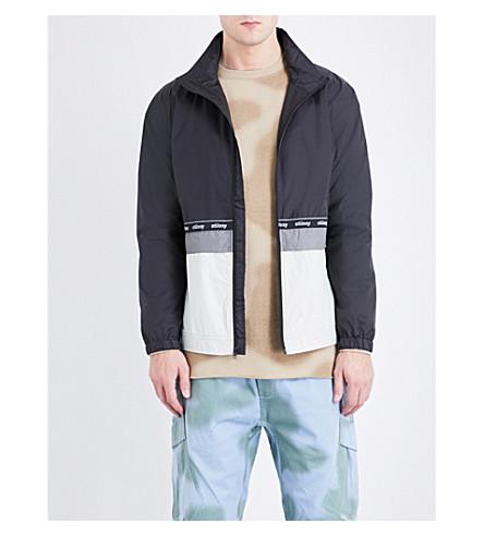 STUSSY Logo-print shell jacket (Black