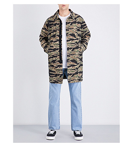 STUSSY Camouflage-patterned cotton jacket (Camo