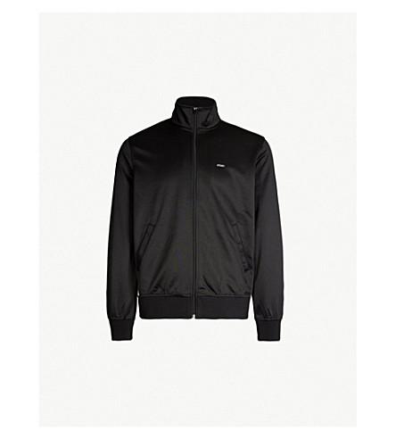 STUSSY Side-striped jersey jacket (Black