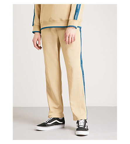 STUSSY Relaxed-fit jersey jogging bottoms (Khaki