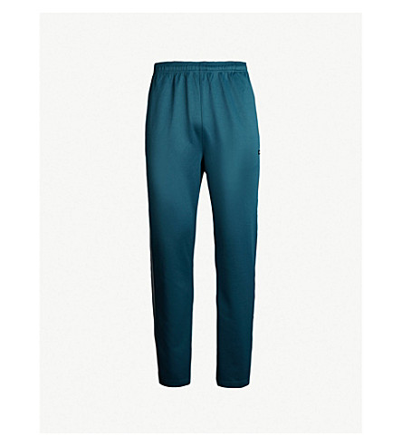 STUSSY Side-striped jersey jogging bottoms (Dark teal